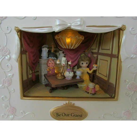 Precious Moments Disney Belle Shadow Box w/Sound